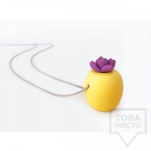 Ръчно изработено колие  3va - Lemon