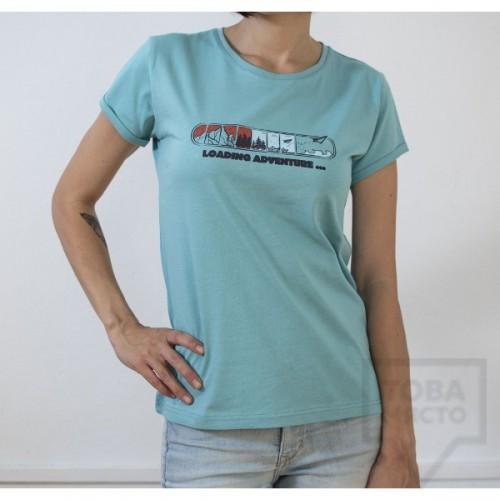 Дамска тениска Almost a Brand - Loading adventure blue