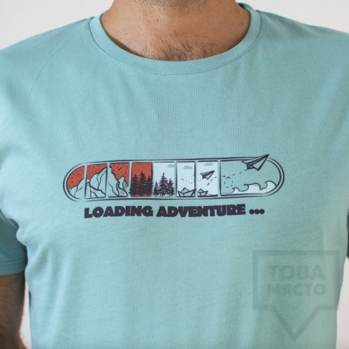 Мъжка тениска Almost a Brand - Loading adventure blue