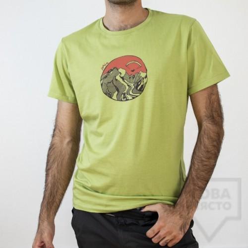 Мъжка тениска Almost a Brand - Fly the Earth green