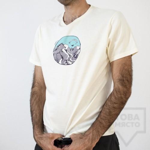 Мъжка тениска Almost a Brand - Fly the Earth white