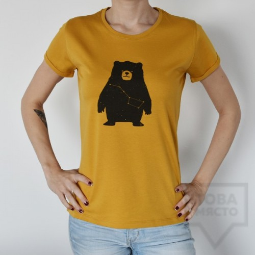 Дамска тениска Almost a Brand - The Big Мечо mustard