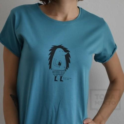 Дамска тениска Almost a Brand - Chill Ежко blue