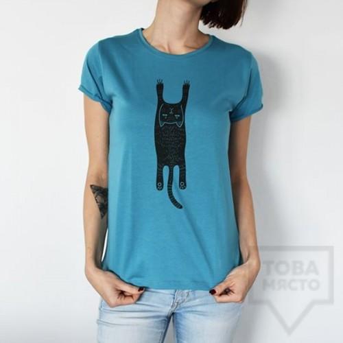 Дамска тениска Almost a Brand - Опакотка blue