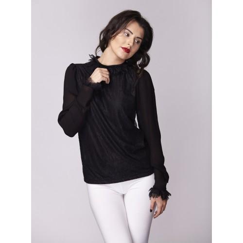 Дамска риза Амбиция - Романс black