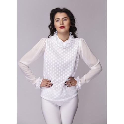 Дамска риза Амбиция - Романс white