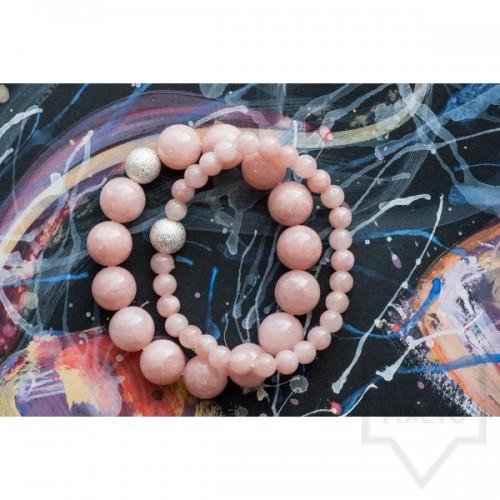 Гривна Amelis - розов кварц
