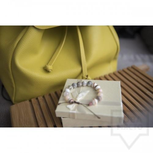 Ръчно изработена гривна Amelis - hortensia