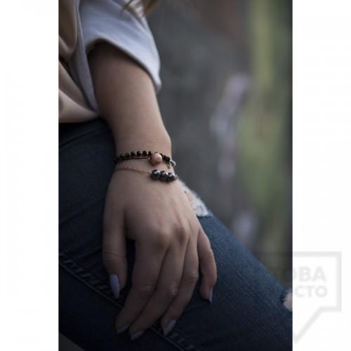 Сет ръчно изработени гривни Amelis - breezy black