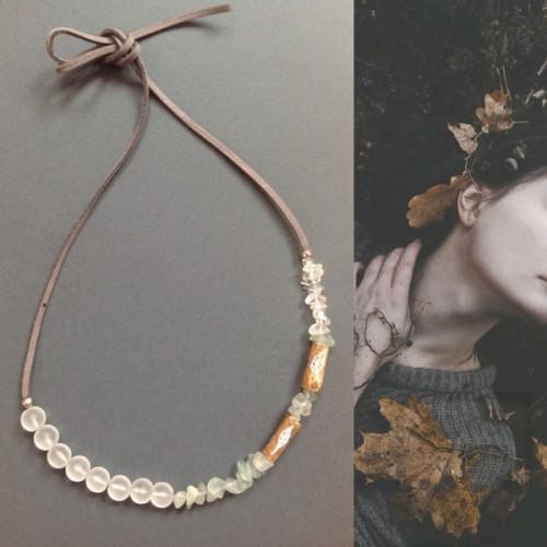 Ръчно изработено колие Anna - есенни листа