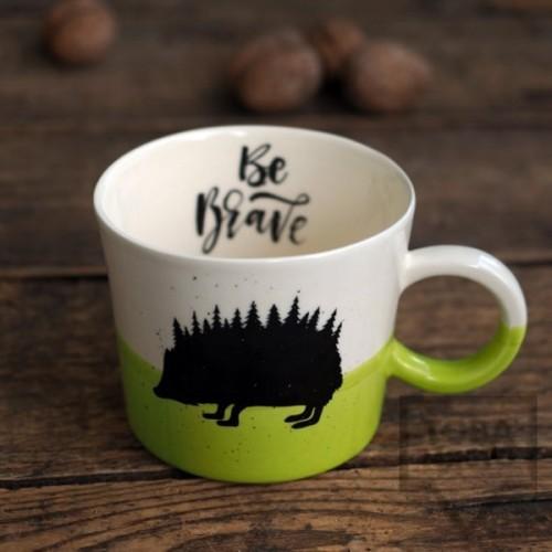 Ръчно изработена порцеланова чаша Art.E Handmade - Be Brave