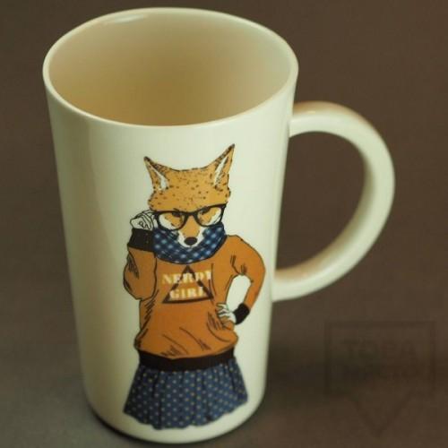 Ръчно изработена порцеланова чаша Art.E Handmade - Foxy