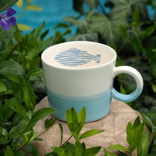 Ръчно изработена порцеланова чаша Art.E Handmade - Love Sea