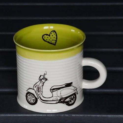 Ръчно изработена порцеланова чаша Art.E Handmade - Scooter