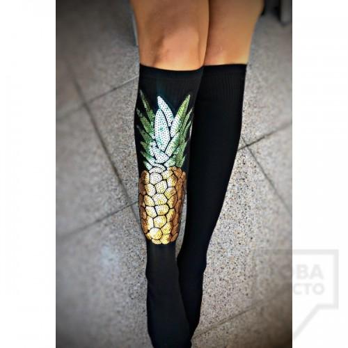 Дамски дълги чорапи ArtLab - Pineapple
