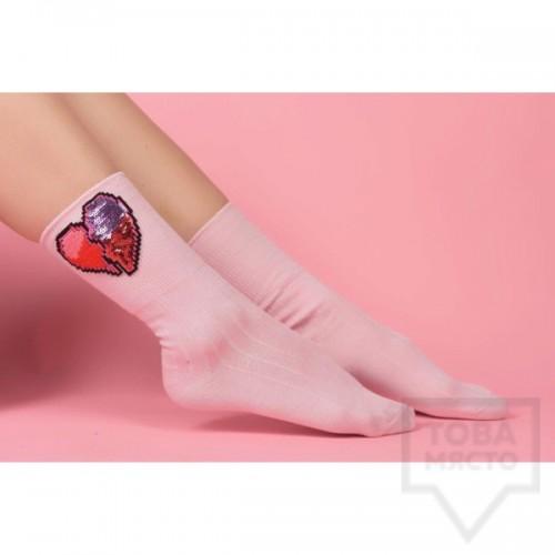 Дамски къси чорапи ArtLab - Heart