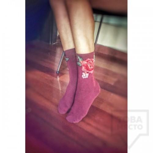 Дамски къси чорапи ArtLab - Pink Roses