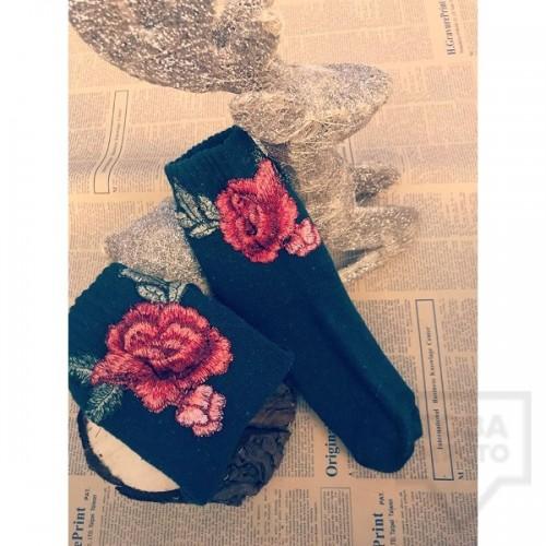 Дамски къси чорапи ArtLab - Red Rose Short