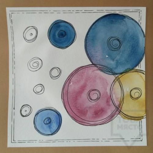 Ръчно изработена картичка Art Raft - Кръгове