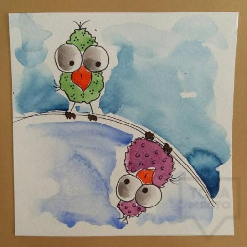 Ръчно изработена картичка Art Raft - Пилета