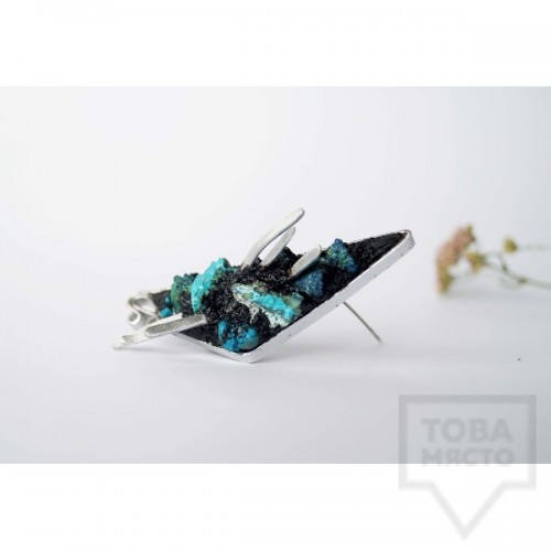 Брошка Asia Petrova Jewelry - хризокола