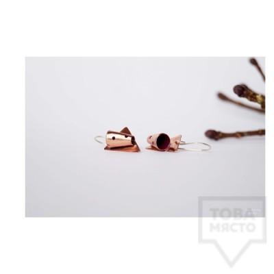 Ръчно изработени обеци Asia Petrova Jewerly - мед