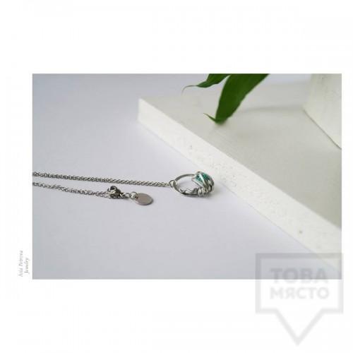 Ръчно изработено колие Asia Petrova Jewerly - evergreen