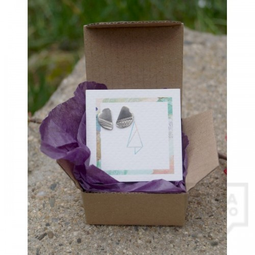 Сребърни обеци Asia Petrova - poppy