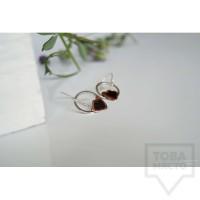 Сребърни обеци Asia Petrova - Flower Circles