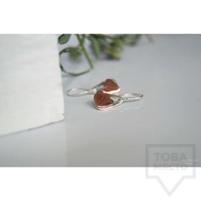 Сребърни обеци Asia Petrova - Flower Triangles