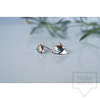 Сребърни обеци Asia Petrova - Fresh Leaves