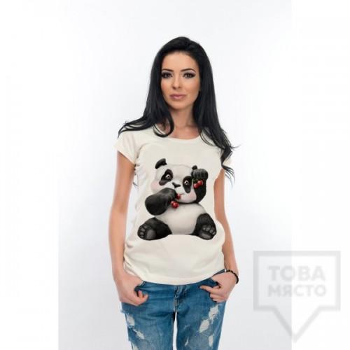 Дамска тениска Atassa - панда