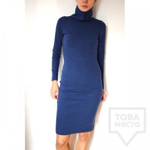 Дизайнерска рокля Attitude157 - поло синя