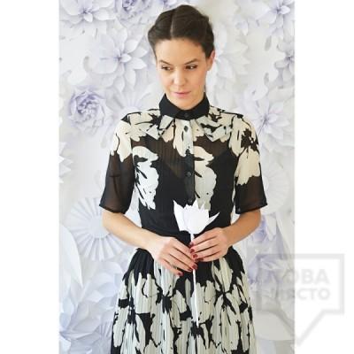 Дизайнерска рокля Attitude157 - Darcey black and white