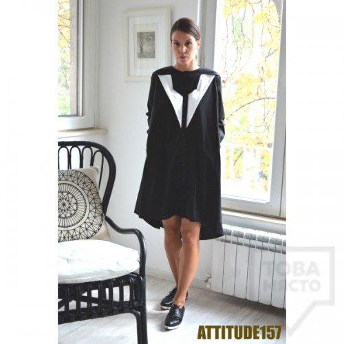 Дизайнерска рокля Attitude157 - melani black