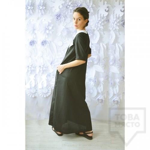 Дълга черна рокля Attitude157 - Aisha