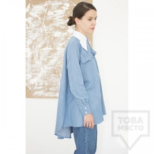 Дизайнерска риза Attitude157 - Kaia denim
