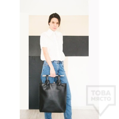 Черна дамска чанта Attitude 157  - Alexenia