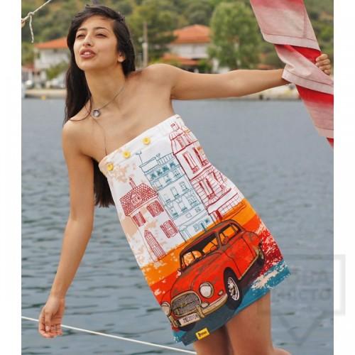 Дизайнерска плажна туника Bunga - Journey