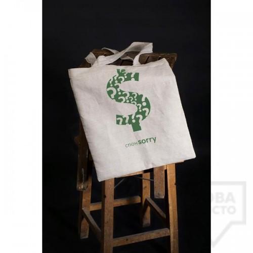 Чанта Bushka.a - Спонsorry Лен