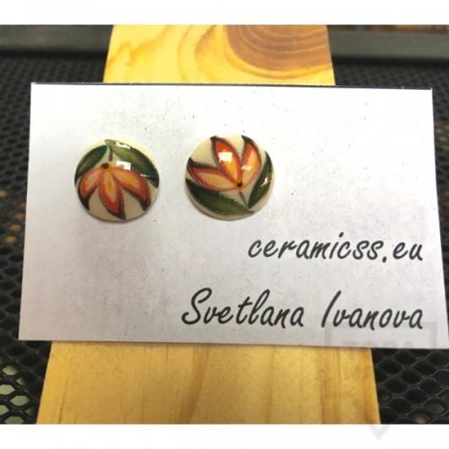 Дизайнерски обеци CeramicsS-Лалета