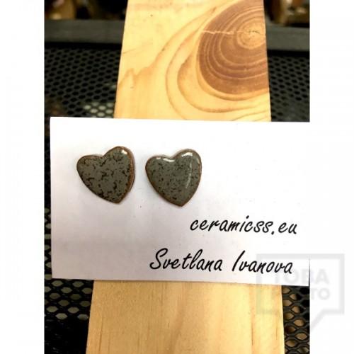 Дизайнерски обеци CeramicsS- Сърце