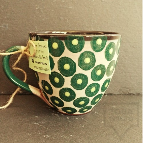 Ръчно изработена керамична чаша CeramicsS - Амазония
