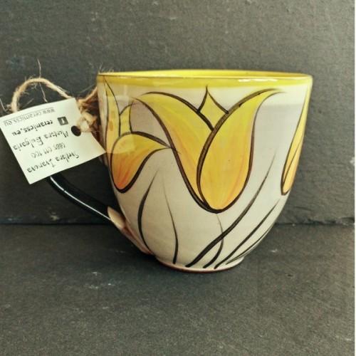 Ръчно изработена керамична чаша CeramicsS-Лалета