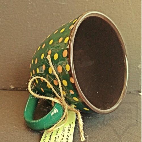 Ръчно изработена керамична чаша CeramicsS-Тайланд