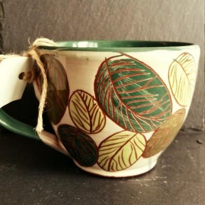 Ръчно изработена керамична чаша CeramicsS - Горски дъх