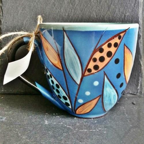 Ръчно изработена керамична чаша CeramicsS - Езерен сън
