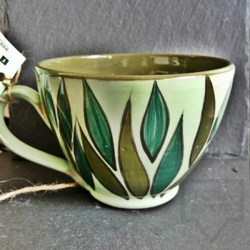Ръчно изработена керамична чаша CeramicsS - Листоцветна градина