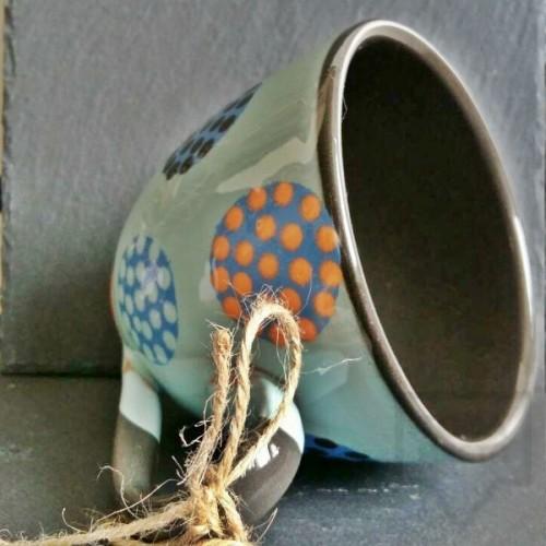 Ръчно изработена керамична чаша CeramicsS - Пъстра феерия