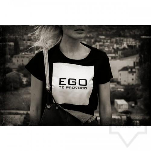 Дизайнерска тениска EGO - черна